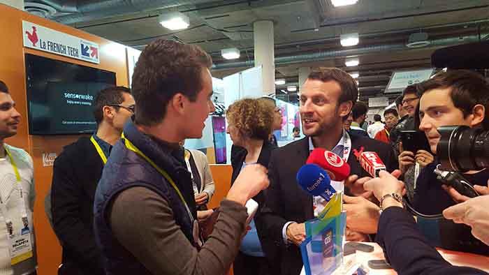 Sensorwake et Macron CES