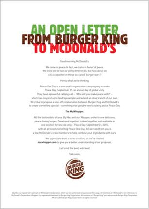 Lettre de Burger King